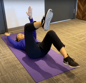 dead bug core exercise workout